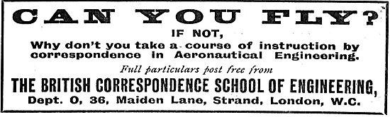 The British Correspondence School Of Engineering: Can You Fly?