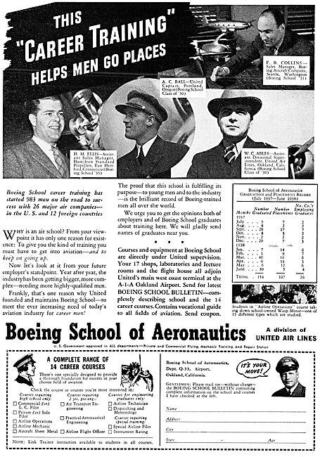 Boeing School Of Aeronautics, Oakland, California. 1938