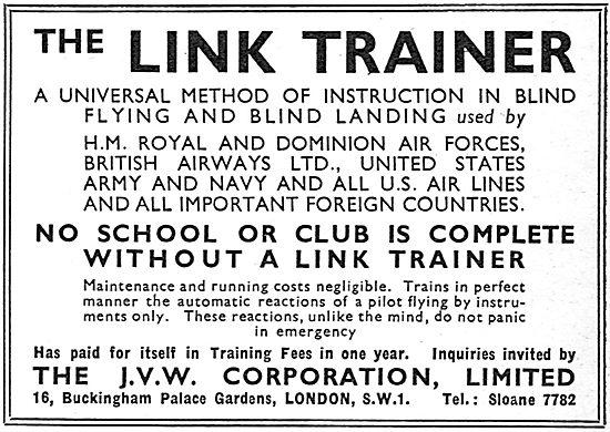J.V.W Corporation  - Link Trainer