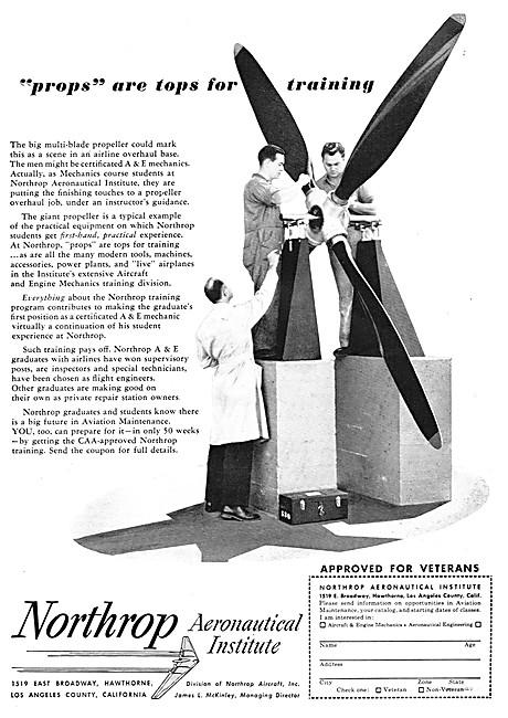 Northrop Aeronautical Institute 1949