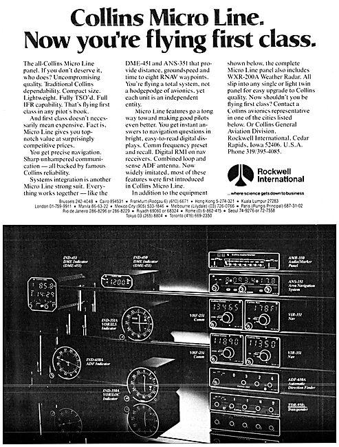 Rockwell Collins Micro Line Avionics 1980