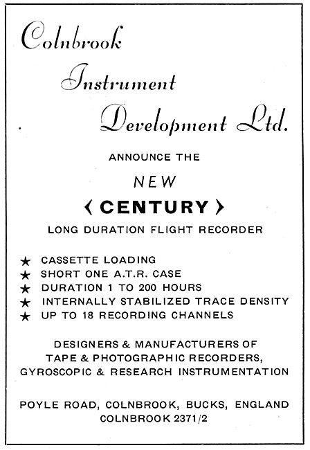 Colnbrook Instrument Development : CENTURY Flight Data Recorder