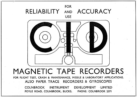 Colnbrook Instrument Development : Magnetic Tape Recorder 1965