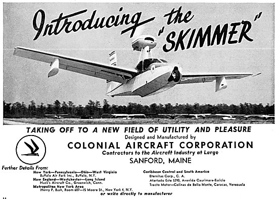 Colonial Aircraft. Colonial Skimmer