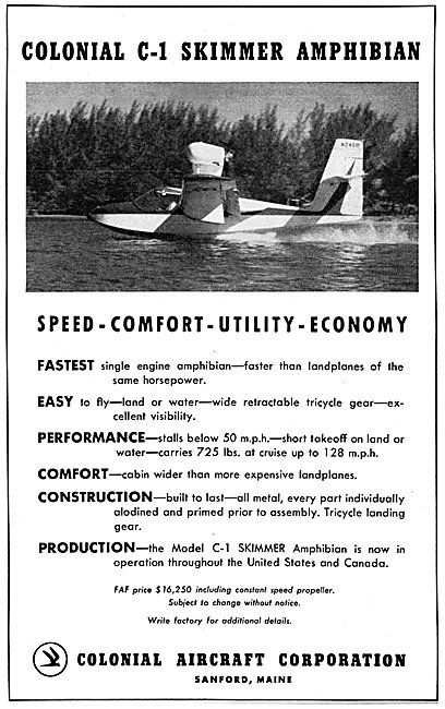 Colonial C-1 Skimmer Amphibian