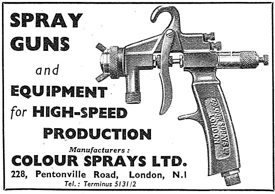 Colour Sprays Ltd. Paint Spray Guns. & Spraying Equipment