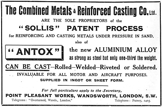 Combined Metals & Reinforced Casting Co. ANTOX Alloy
