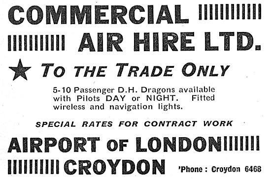 Commercial Air Hire Croydon - Trade Only