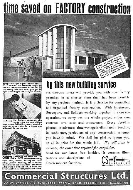 Commercial Structures - Factory Designers & Constructors