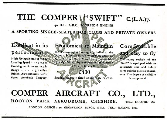 Comper Swift - 40 HP ABC Scorpion Engine