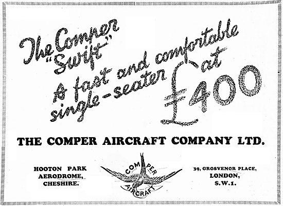 Comper Swift 1930 Advert