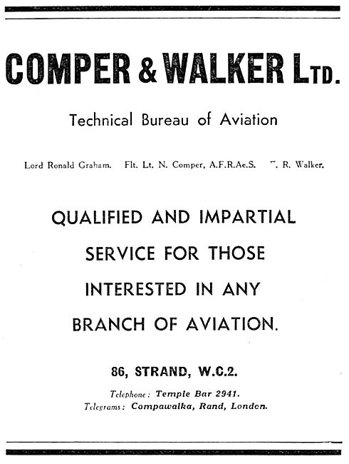 Comper & Walker Ltd Aviation Consultancy