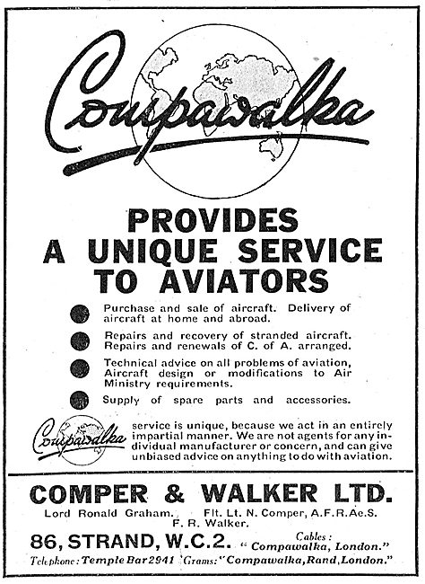 Comper & Walker Ltd - Aviation Sales, Service & Consultancy