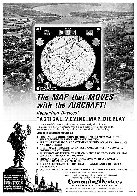 Computing Devices Of Canada Tactical Moving Map Displays