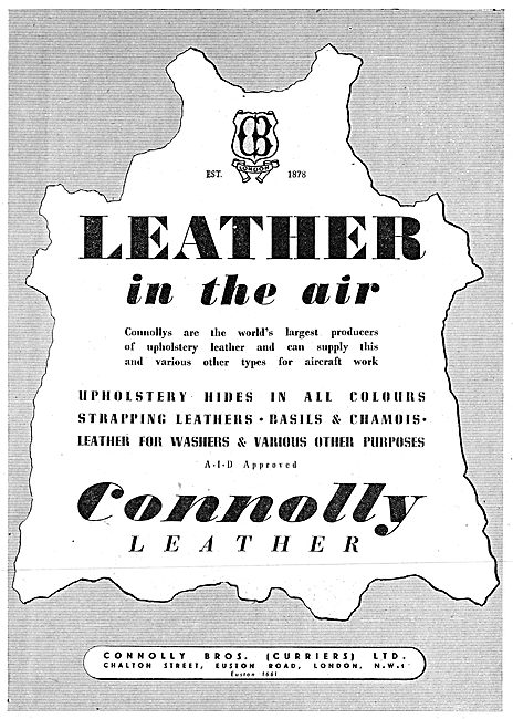 Connolly Leather 1942 Advert
