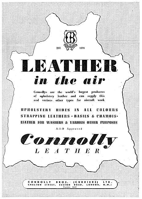 Connolly Bros Leather Products For Aircraft 1943