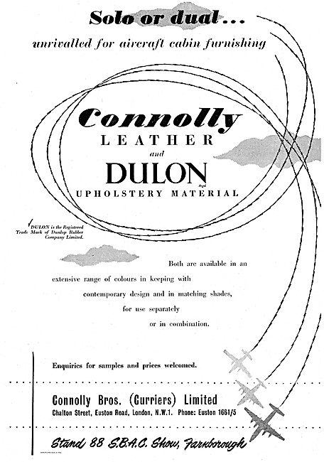 Connolly Bros Dulon Upholstery Material For Aircraft