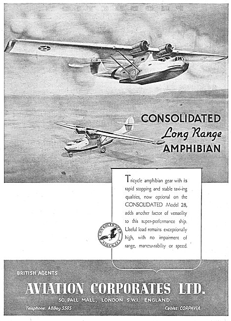 Consolidated Model 28 Long Range Amphibian Aircraft