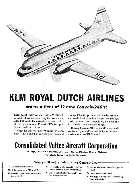 Consolidated Vultee Convair 240 - KLM