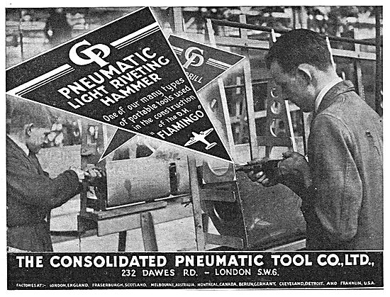 Consolidated Pneumatic Riveting Tools 1939