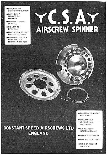 Constant Speed Airscrews: Propeller Spinners