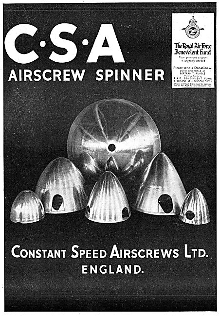 Constant Speed Airscrews: Propeller Spinners
