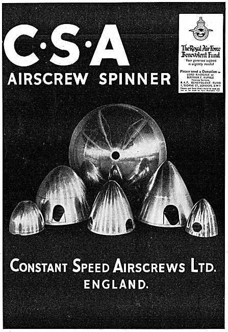 Constant Speed Airscrews: CSA Propeller Spinners