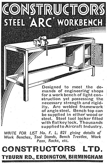 Constructors Factory Workbenches 1939