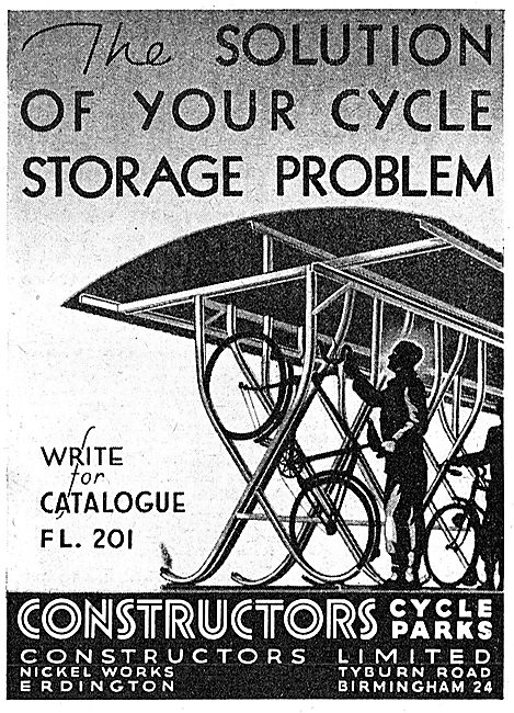 Constructors Ltd : Works Bicycle Racks 1942