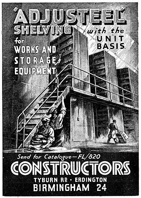 Constructors Ltd Steel Shelving For Factories & Works