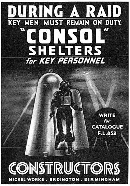 Constructors Ltd : ARP Shelters - Consol Shelter 1940
