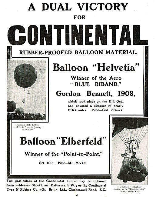 The Continental Tyre & Rubber Co: Rubber Proofed Balloon Material