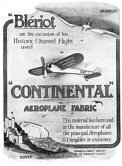 The Continental Tyre & Rubber Co. Aeroplane Fabrics