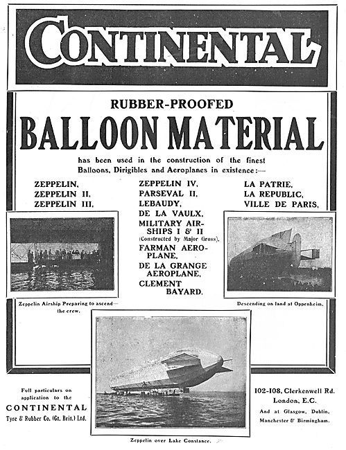Continental Rubber Proofed Balloon & Dirigible Material