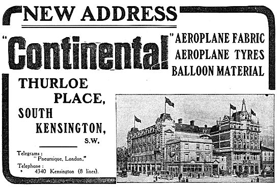 Continental Aeroplane Fabric, Tyres & Balloon Material