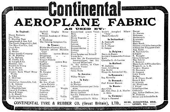 Continental  Aeroplane Fabrics