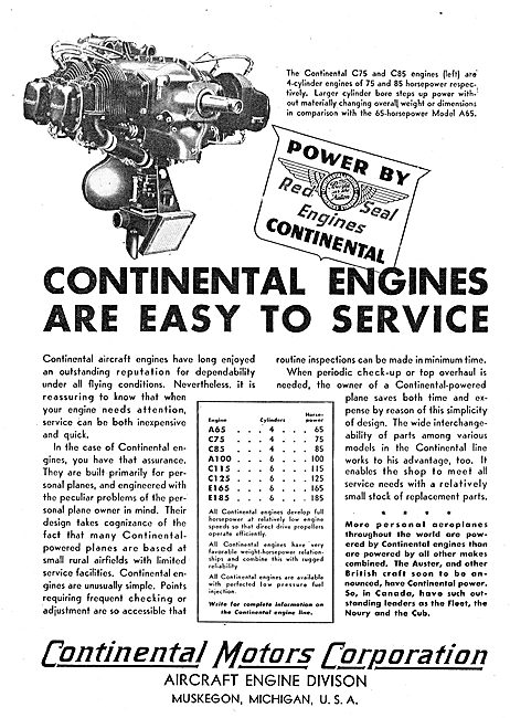 Continental Motors C75 Aero Engine