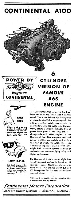 Continental Motors A100 Aero Engine