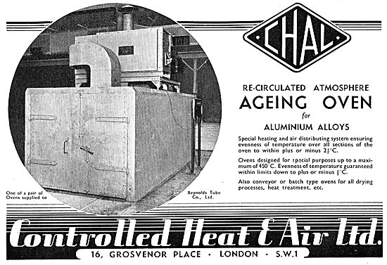 Controlled Heat & Air. CHAL Ageing Ovens For Aluminium Alloys