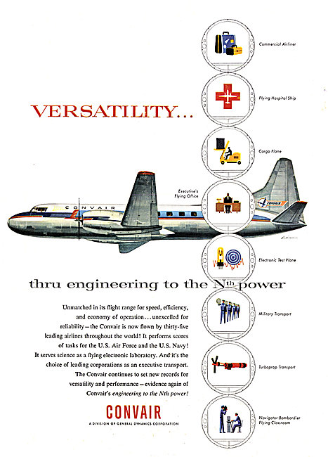 Convair Aircraft 1956