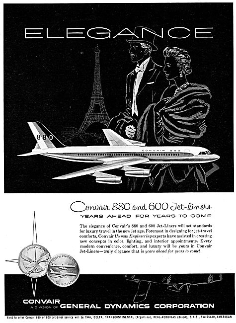 Convair 880  - Convair 600
