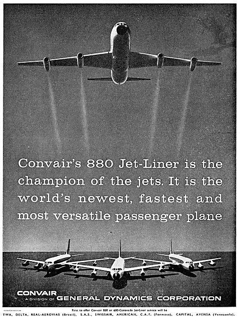 Convair 800 Convair 600 Coronado, Convair 880 Jetliners
