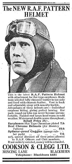 Cookson & Clegg RAF Pattern Helmets