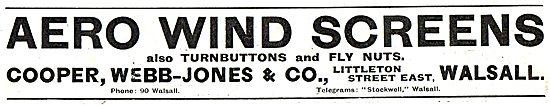 Cooper, Webb-Jones & Co. Aero Windscreens