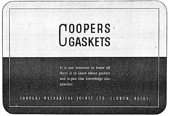 Coopers Mechanical Joints Gaskets 1943 Advert