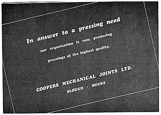 Coopers Mechanical Joints Gaskets
