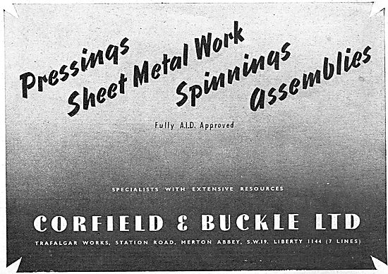 Corfield And Buckle Sheet Metal Work And Spinnings