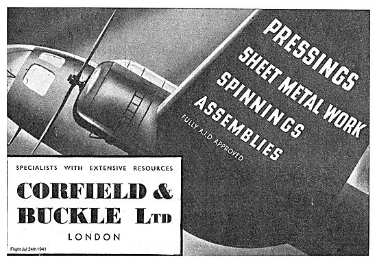 Corfield And Buckle Pressings And Spinnings For Aircraft