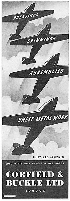 Corfield And Buckle Aircraft Pressings, Spinnings And Assemblies