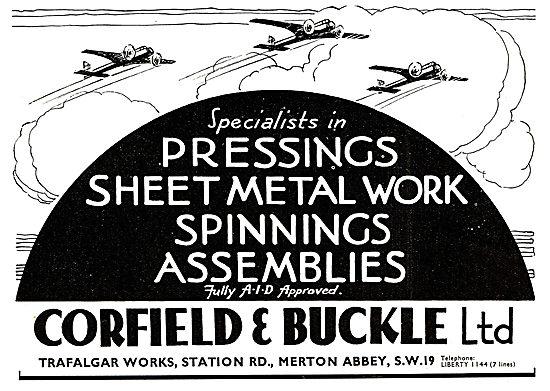 Corfield & Buckle :  Aircraft Sheet Metal & Engineering Work